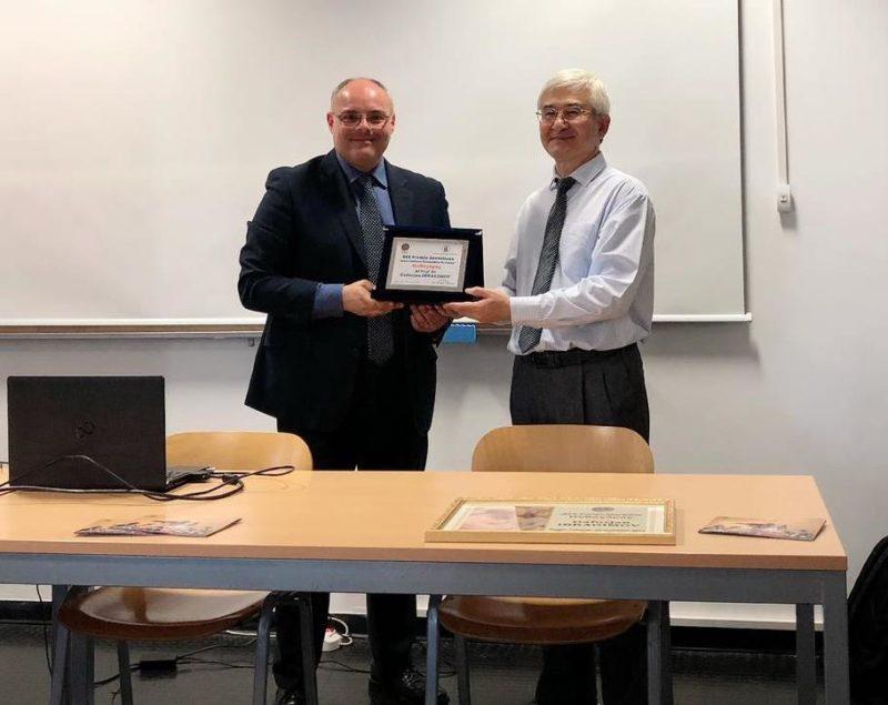 """Cerimonia di consegna del Premio Anassilaos """"Pitagora"""" al Prof.  Gafurjan Ibragimov"""